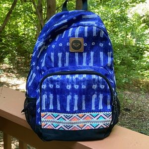Roxy blue patterned backpack